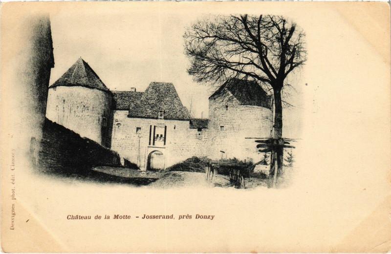 Carte postale ancienne Chateau de la Motte Josserand pres Donzy Nievre à Donzy