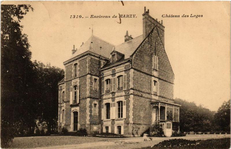 Carte postale ancienne Env. de Marzy - Chateau des Loges à Marzy