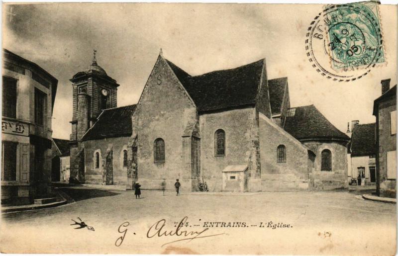 Carte postale ancienne Entrains-L'Eglise