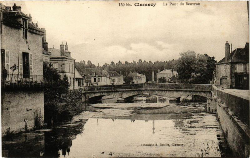 Carte postale ancienne Clamecy-Le Pont du Beuvron à Beuvron