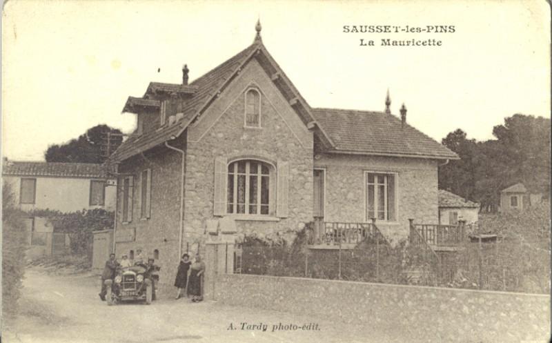 Carte postale ancienne La villa La Mauricette à Sausset-les-Pins