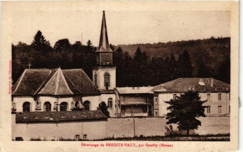 Carte postale ancienne Pélerinage de Benoite-Vaux,par Souilly à Souilly