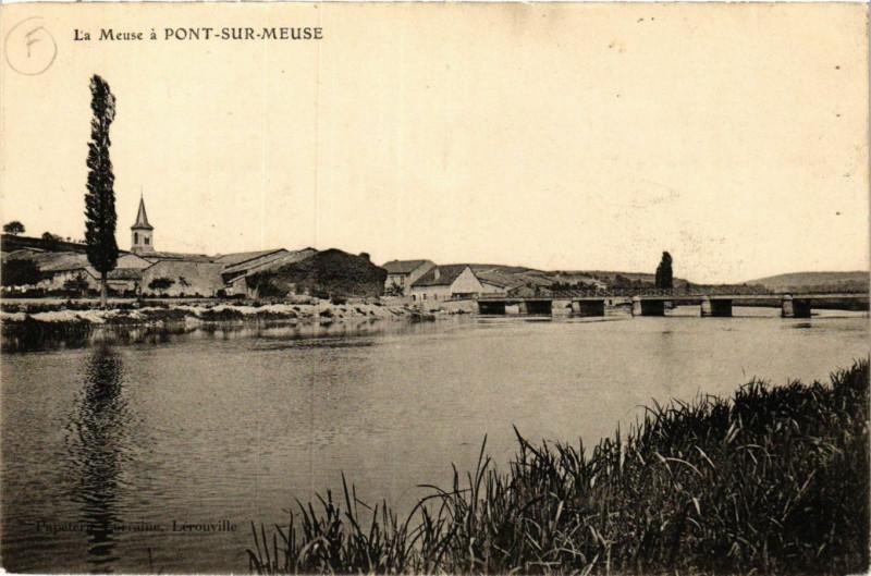 Carte postale ancienne La Meuse á Pont-sur-Meuse à Pont-sur-Meuse