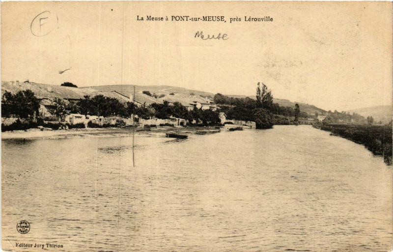 Carte postale ancienne La Meuse á Pont-sur-Meuse , prés Lérouville à Pont-sur-Meuse