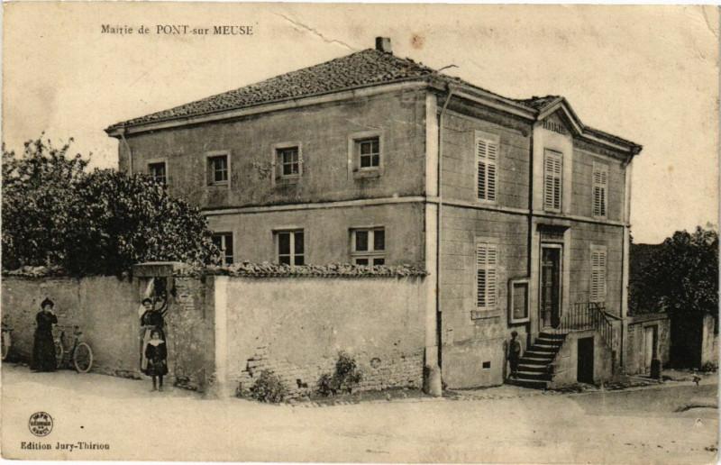 Carte postale ancienne Mairie de Pont sur Meuse à Pont-sur-Meuse