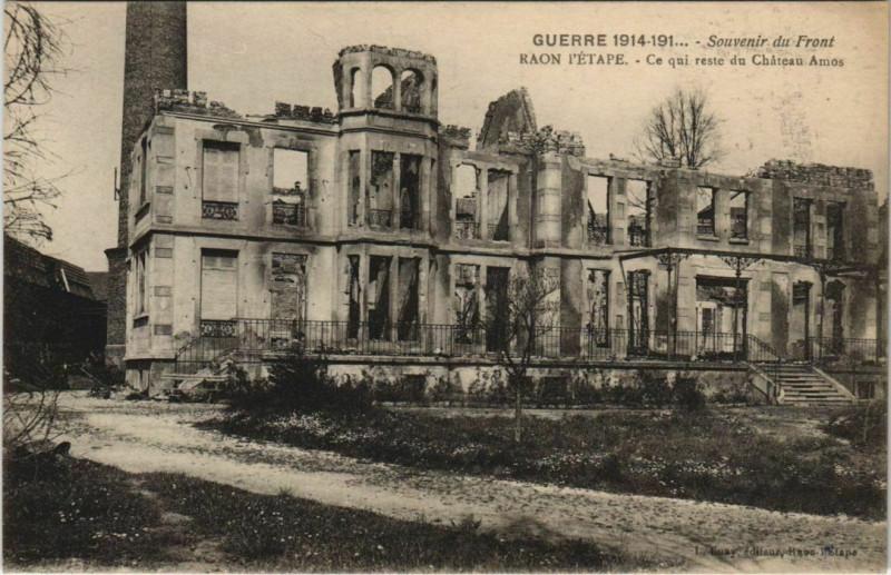Carte postale ancienne Guerre Raon-l'Etape Chateau Amos à Raon-l'Étape