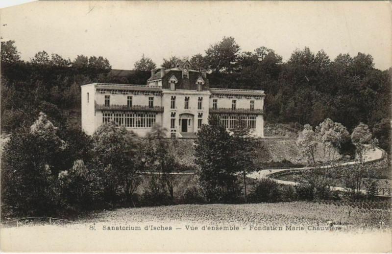 Carte postale ancienne Sanatorium d'Isches vue d'ensemble à Isches