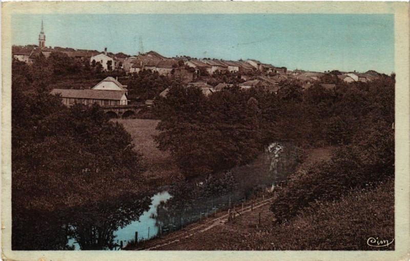 Carte postale ancienne Chatillon-sur-Saone - Vallée de la Saone à Châtillon-sur-Saône