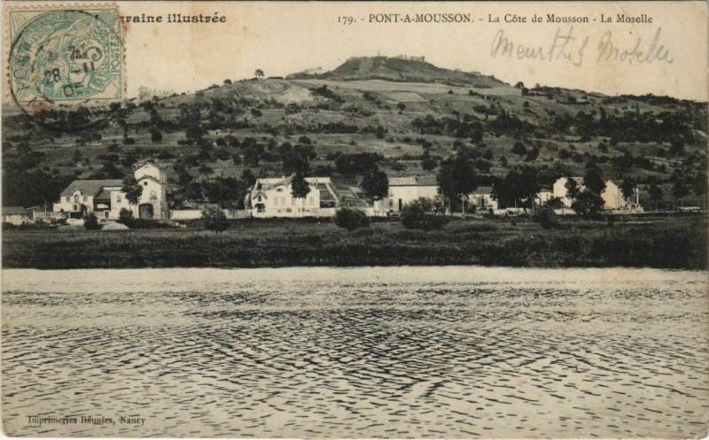 Carte postale ancienne Pont-a-Mousson La Cote de Mousson à Pont-à-Mousson