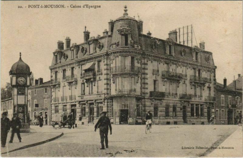 Carte postale ancienne Pont-a-Mousson Caisse d'Epargne à Pont-à-Mousson