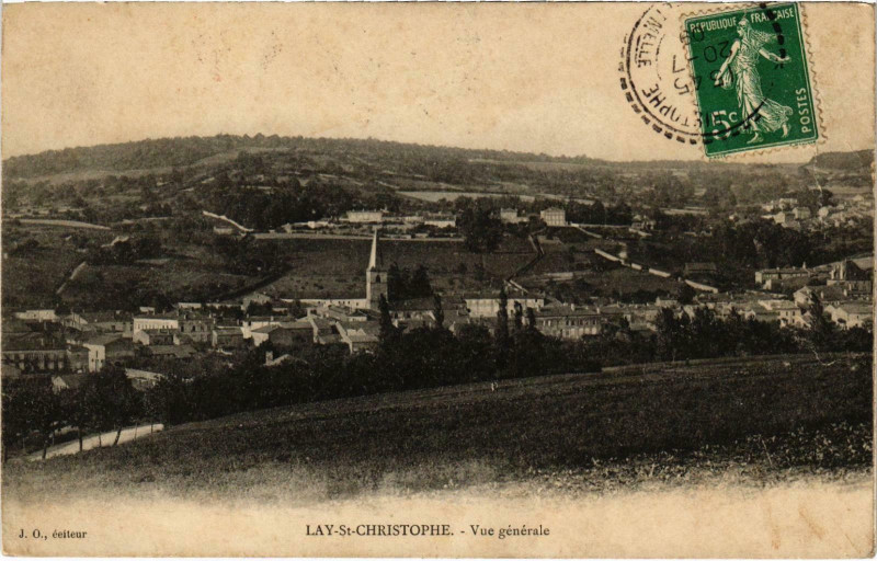 Carte postale ancienne Lay Saint-Christophe Meurthe et Moselle à Lay-Saint-Christophe