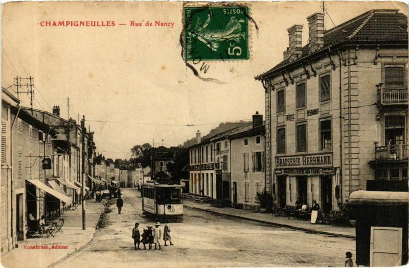 Carte postale ancienne Champigneulles Rue de Nancy à Champigneulles