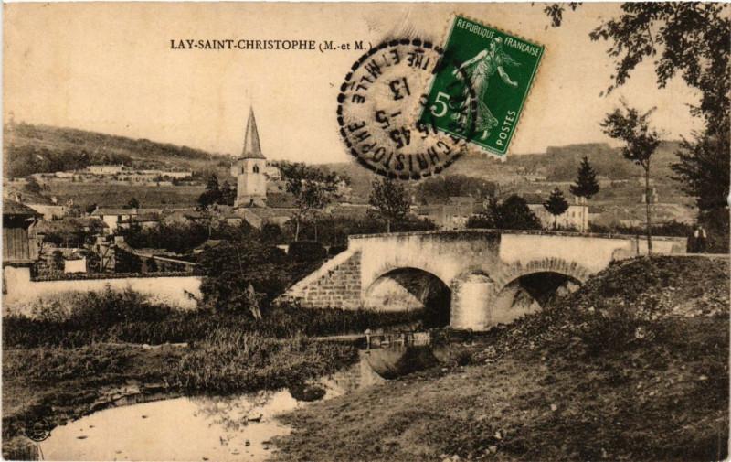 Carte postale ancienne Lay Saint-Christophe à Lay-Saint-Christophe