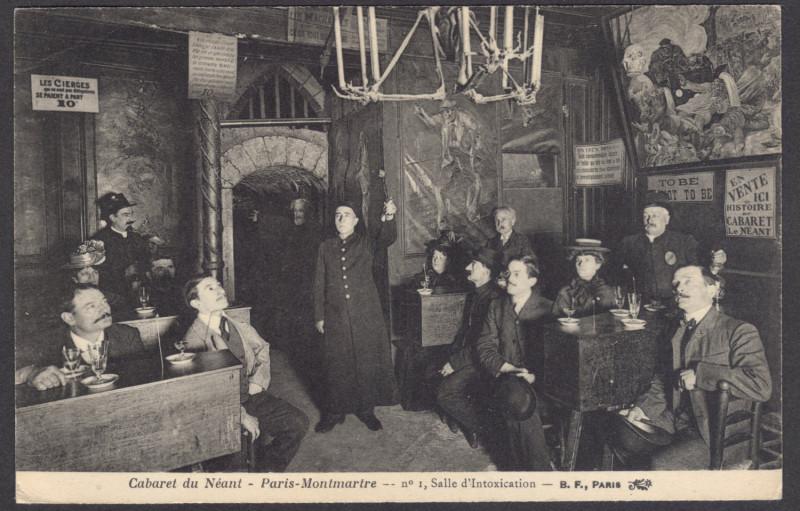 Carte postale ancienne Cabaret du Néant - Salle d'Intoxication à Paris 18e