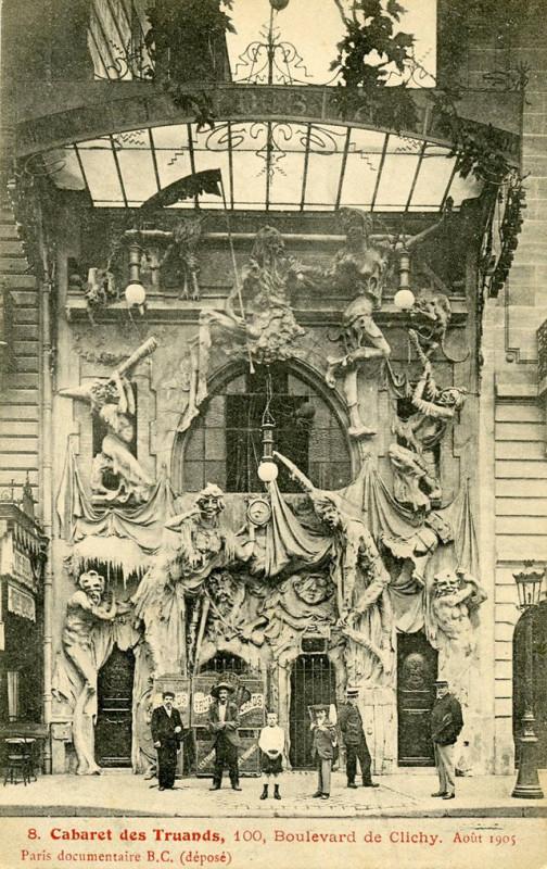 Carte postale ancienne Cabaret des Truands à Paris 18e