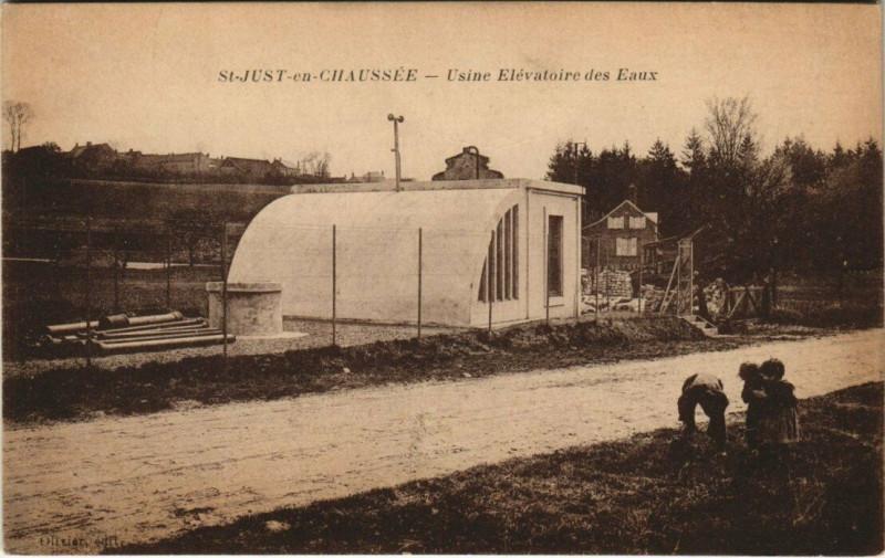 Carte postale ancienne Saint-Just-en-Chaussee - Usine Elevatoire des Eaux à Saint-Just-en-Chaussée