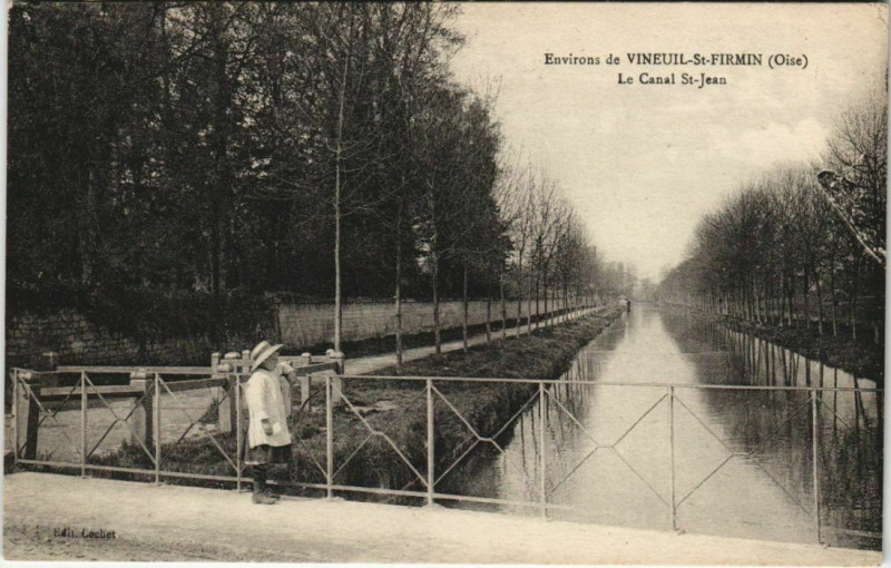 Carte postale ancienne Env. de Vineuil - Saint-Firmin Le Canal Saint-Jean à Vineuil-Saint-Firmin