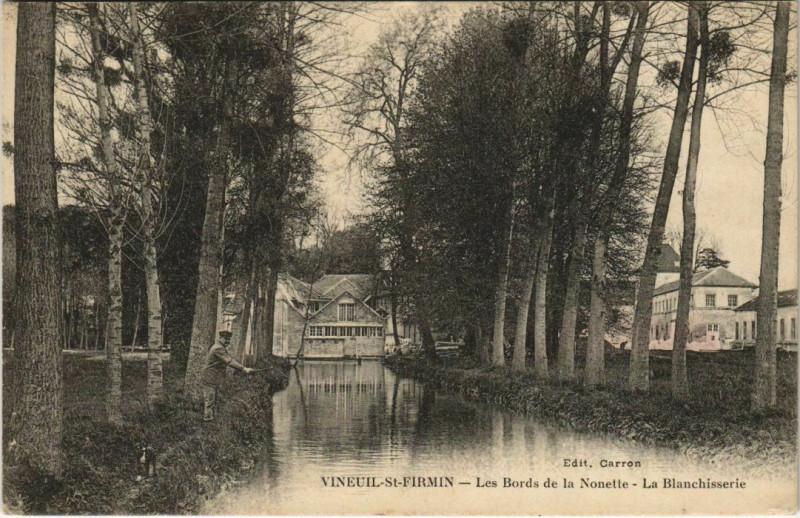 Carte postale ancienne Vineuil-Saint-Firmin - Les Bords de la NOnette - La Blanchisserie à Vineuil-Saint-Firmin