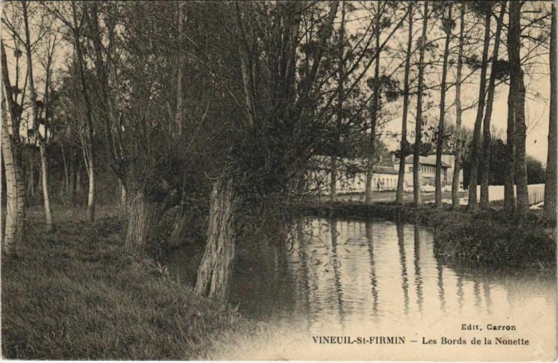 Carte postale ancienne Vineuil-Saint-Firmin - Les Bords de la Nonette à Vineuil-Saint-Firmin