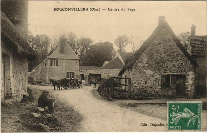 Carte postale ancienne Bouconvillers - Centre du Pays à Bouconvillers
