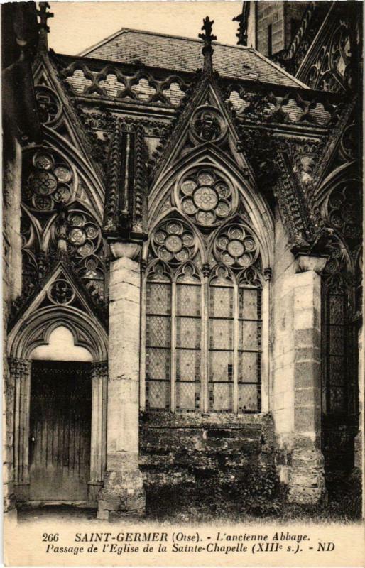 Carte postale ancienne Saint-Germer-de-Fly - L'Ancienne Abbaye - Passage de l'Eglise à Saint-Germer-de-Fly