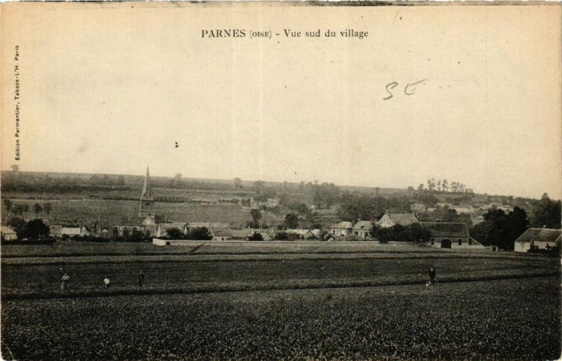 Carte postale ancienne Parnes Vue sud du village à Parnes