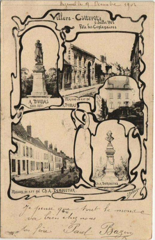 Carte postale ancienne Villers-Cotterets à Villers-Cotterêts