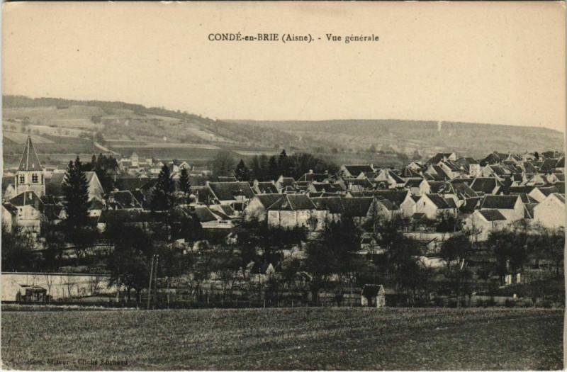 Carte postale ancienne Cande-en-Brie Vue Generale à Brie