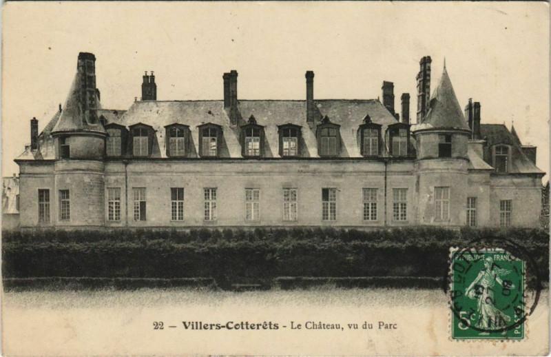 Carte postale ancienne Villers-Cotterets Chateau Francois Ier du du Parc à Villers-Cotterêts