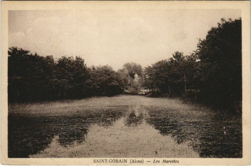 Carte postale ancienne Saint-Gobain - Les Marettes à Saint-Gobain
