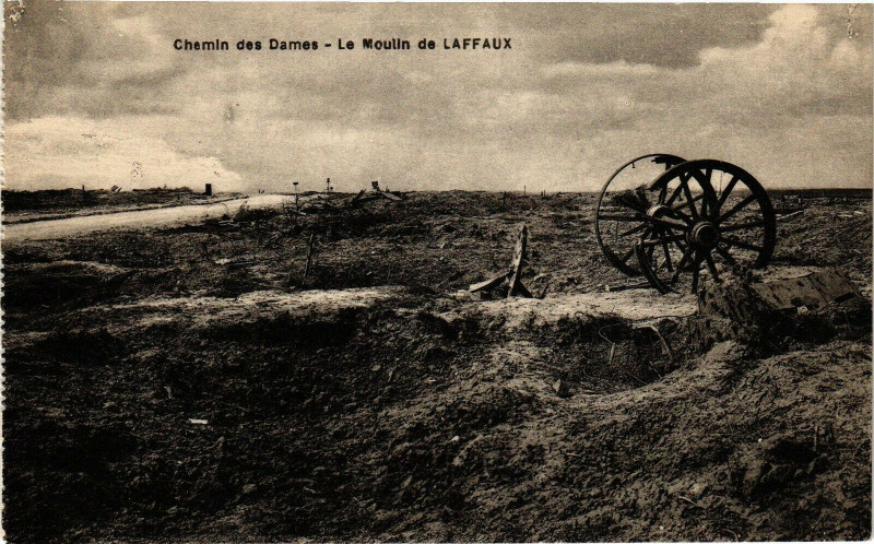 Carte postale ancienne Chemin des Dames Le Moulin de Laffaux à Laffaux