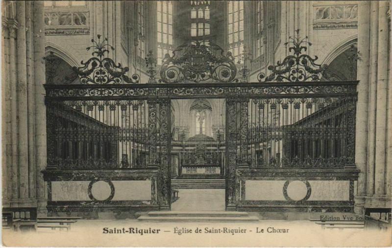 Carte postale ancienne Saint-Riquier Eglise de Saint-Riquier Le Choeur à Saint-Riquier