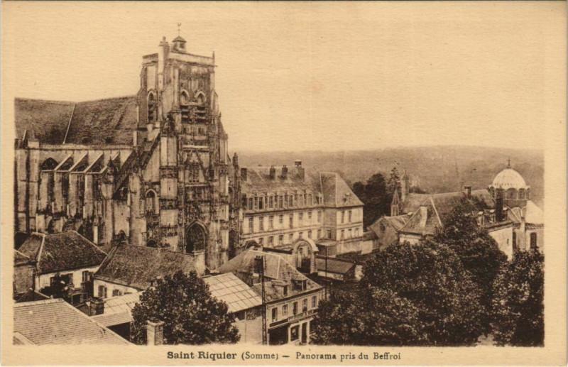 Carte postale ancienne Saint-Riquier Panorama pris d Beffroi à Saint-Riquier