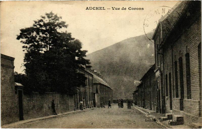 Carte postale ancienne Auchel- Vue de Corons France à Auchel