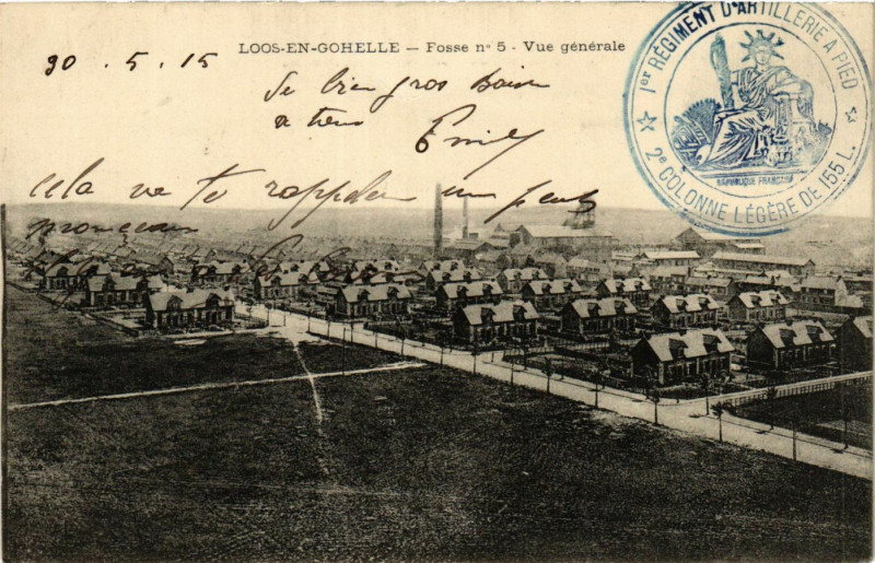 Carte postale ancienne Loos-en-Gohelle Fosse no 5 - vue générale à Loos-en-Gohelle
