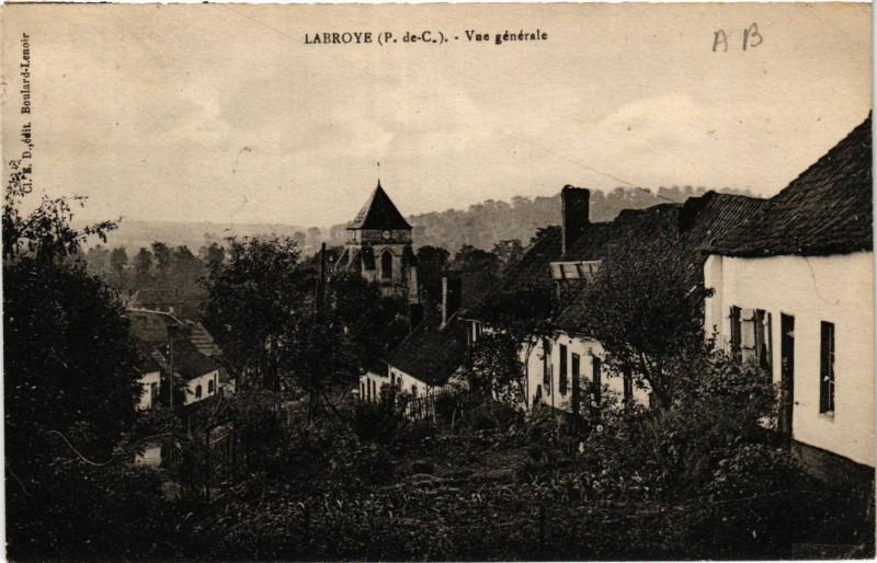 Carte postale ancienne Labroye Vue générale à Labroye