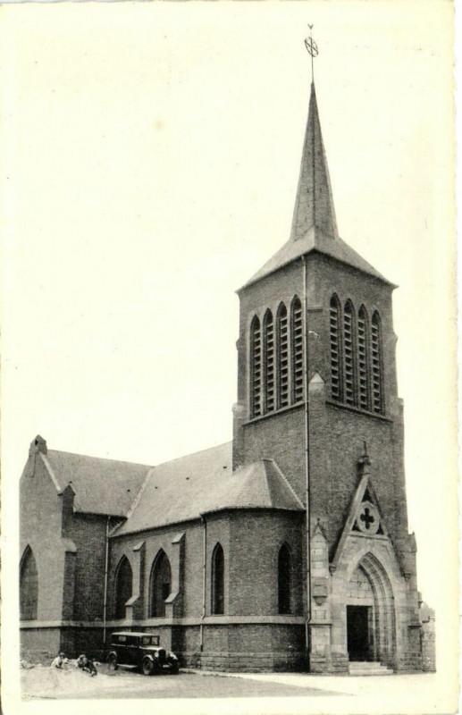 Carte postale ancienne Meurchin - l'Eglise à Meurchin