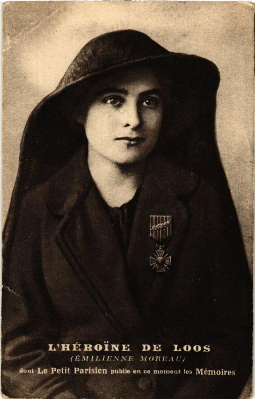 Carte postale ancienne L'Heroïne de Loos - Emilienne Moreau à Loos-en-Gohelle