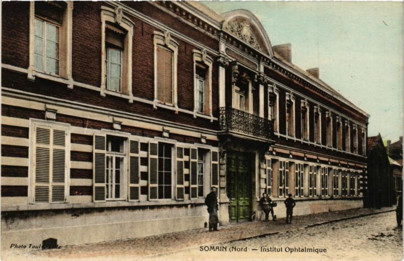 Carte postale ancienne Somain - Institut Ophtalmique à Somain