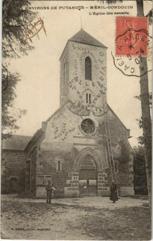 Carte postale ancienne Menil-Gondouin L'Eglise France à Ménil-Gondouin