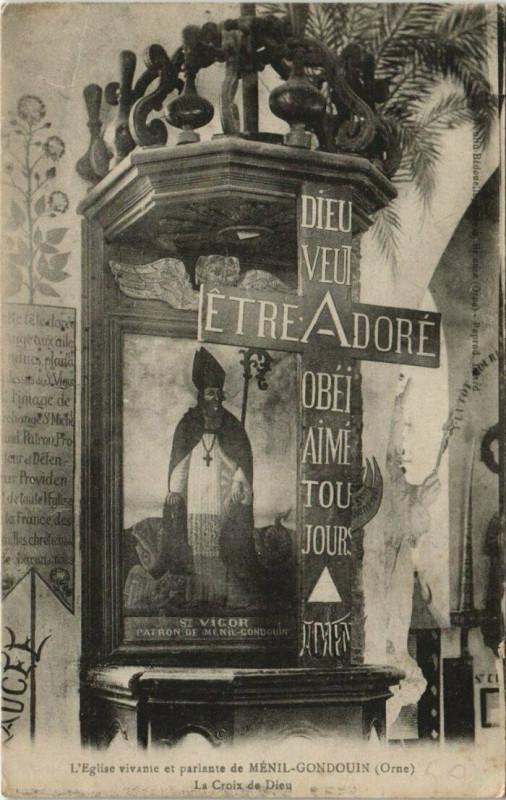 Carte postale ancienne L'Eglise vivante et parlante de Menil-Gondouin à Ménil-Gondouin