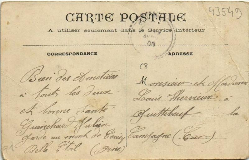 Carte postale ancienne Le Ménil-Ciboult au Ménil-Ciboult