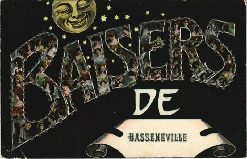 Carte postale ancienne Baisers de Basseneville à Basseneville