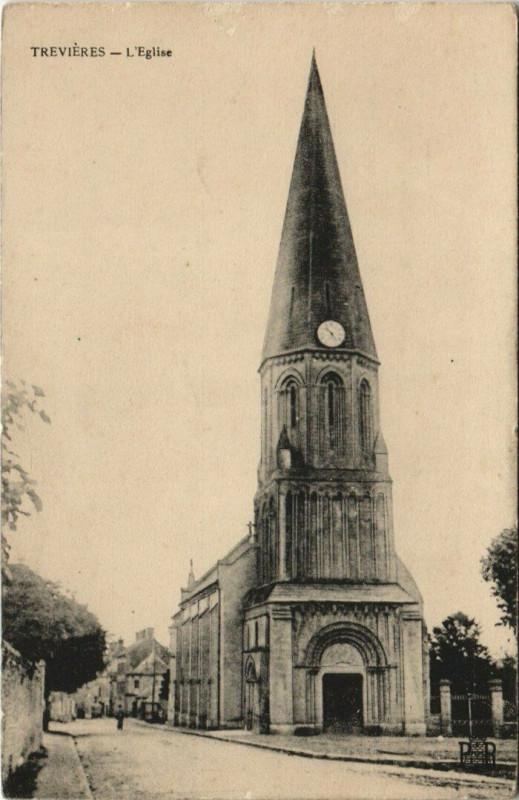 Carte postale ancienne Trevieres - L'Eglise à Trévières
