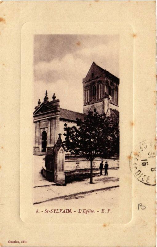 Carte postale ancienne Saint-Sylvain - L'Eglise à Saint-Sylvain