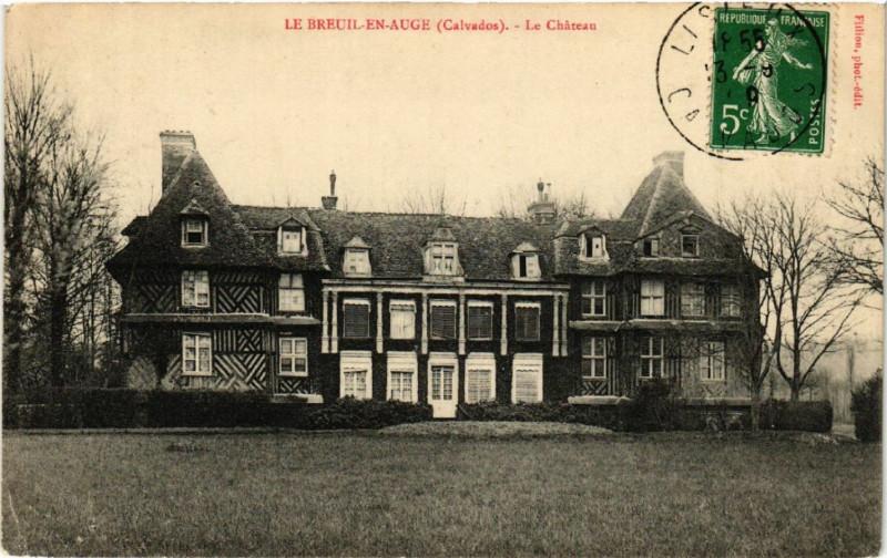Carte postale ancienne Le Breuil-en-Auge - Le Chateau au Breuil-en-Auge