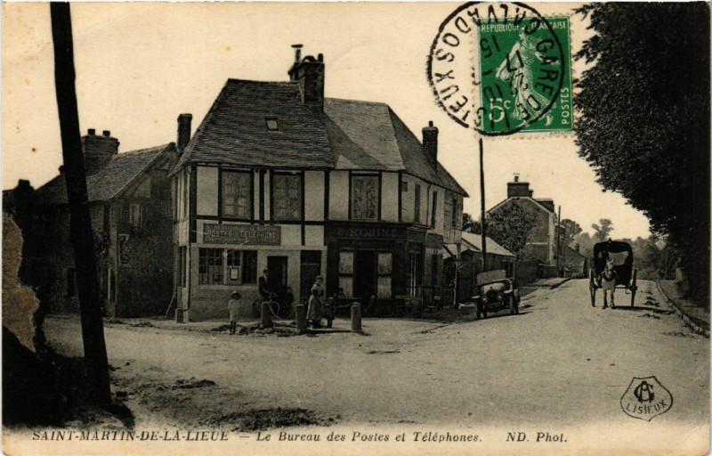 Carte postale ancienne Saint-Martin de La lieue - Le Bureau des Postes et Telephones à Saint-Martin-de-la-Lieue