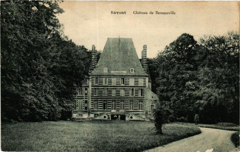 Carte postale ancienne Bavent-Chateau de Beneauville à Bavent