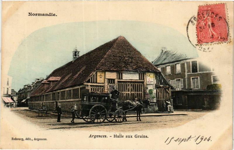 Carte postale ancienne Argences - Halle aux Grains à Argences