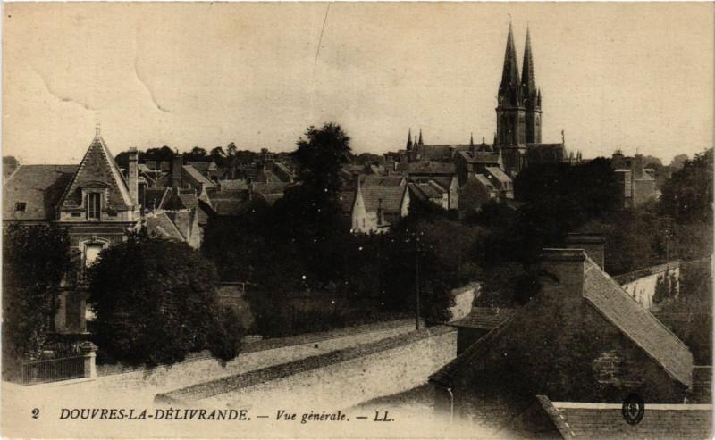 Carte postale ancienne Douvres-La-Delivrande - Vue générale à Douvres-la-Délivrande